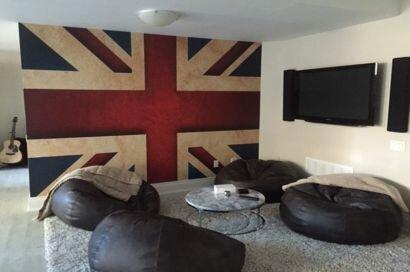 Фотообои Британский флаг в интерьере